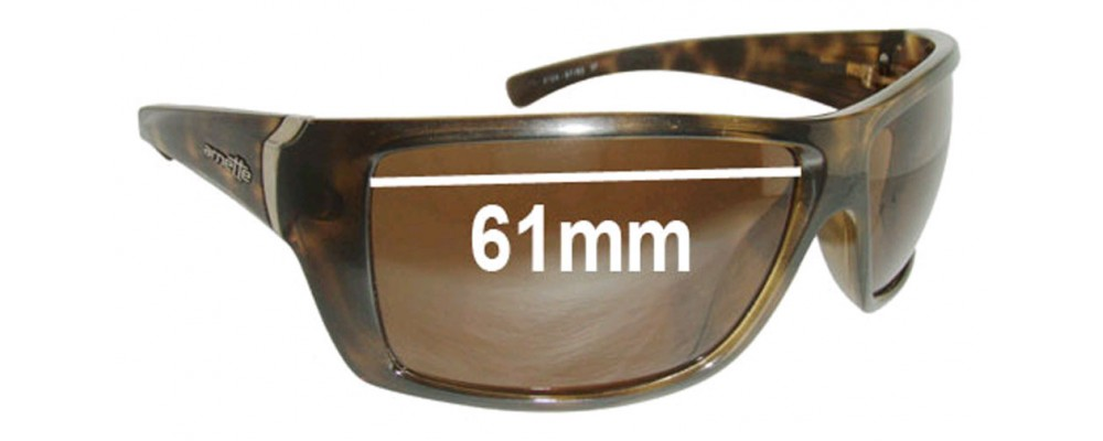 Sunglass Fix Sunglass Replacement Lenses for Arnette Defy AN4124 - 61mm Wide