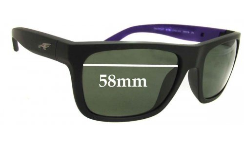 Sunglass Fix Sunglass Replacement Lenses for Arnette Dropout AN4176 - 58mm wide X 41.5mm high