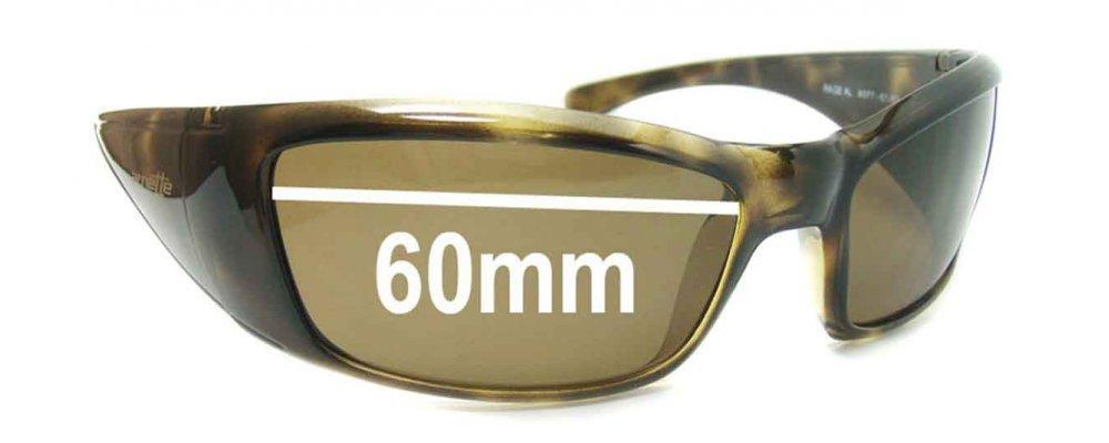 ecb7422bcc57 Sunglass Fix Sunglass Replacement Lenses for Arnette Rage XL AN4077 - 60mm  wide