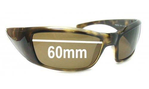 Sunglass Fix Sunglass Replacement Lenses for Arnette Rage XL AN4077 - 60mm wide