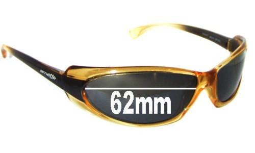 Sunglass Fix Sunglass Replacement Lenses for Arnette Shaft AN4022 - 62mm Wide