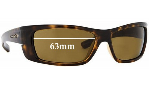 Sunglass Fix Sunglass Replacement Lenses for Arnette Slammer AN4115 - 63mm Wide