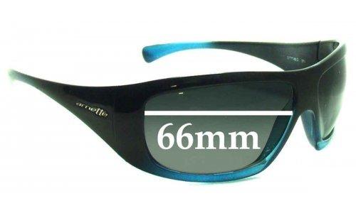Sunglass Fix Sunglass Replacement Lenses for Arnette Wrath AN4084 - 66mm Wide
