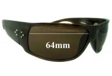 Sunglass Fix Sunglass Replacement Lenses for Blinde Unknown Model - 64mm Wide