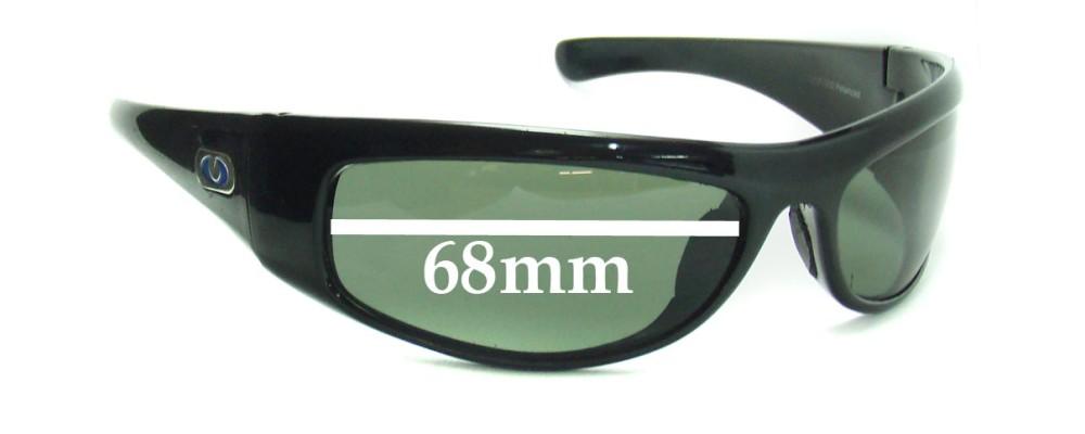 Sunglass Fix Sunglass Replacement Lenses for Blue Ice Loade Sunglass Replacement Lenses- 68mm Wide