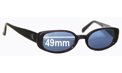 Sunglass Fix Sunglass Replacement Lenses for Calvin Klein CK4022 - 49mm Wide