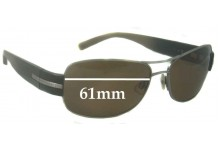 Sunglass Fix Sunglass Replacement Lenses for Calvin Klein Unknown Model - 61mm Wide