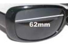 Sunglass Fix Sunglass Replacement Lenses for Calvin Klein CK3059S - 62mm Wide