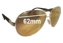 Sunglass Fix Sunglass Replacement Lenses for Chopard SCH 817 - 62mm Wide