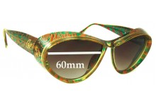 Sunglass Fix Sunglass Replacement Lenses for Christian Lacroix 7366 - 60mm Wide