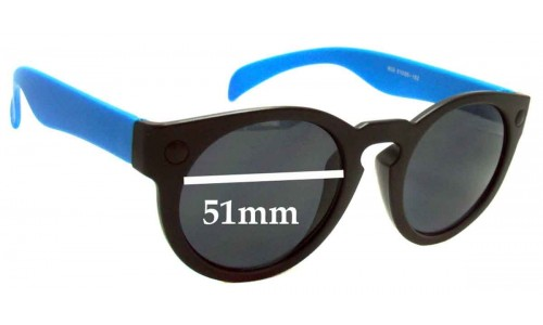 Sunglass Fix Sunglass Replacement Lenses for D-eye 603 - 51mm Wide