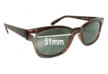 Sunglass Fix Sunglass Replacement Lenses for Design Line Beachcomber 686 - 51mm Wide