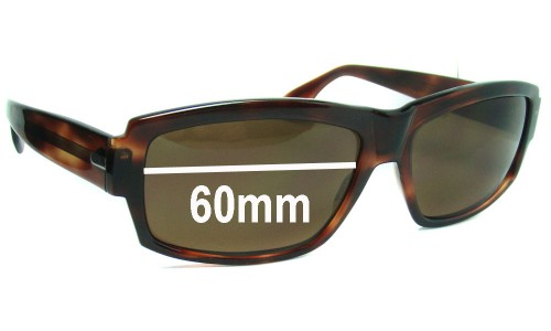 Sunglass Fix Sunglass Replacement Lenses for Elche Hakim - 60mm Wide