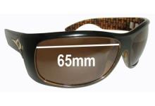 Sunglass Fix Sunglass Replacement Lenses for Electric Bourbon - 65mm Wide