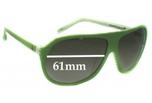 Sunglass Fix Sunglass Replacement Lenses for Electric Hoodlum  - 61mm Wide