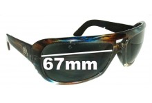 Sunglass Fix Sunglass Replacement Lenses for Electric Maxwell - 67mm Wide