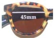 Sunglass Fix Sunglass Replacement Lenses for Eye Bob Half Wit - 45mm Wide