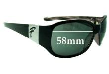 Sunglass Fix Sunglass Replacement Lenses for Fiorelli Unknown Model - 58mm Wide