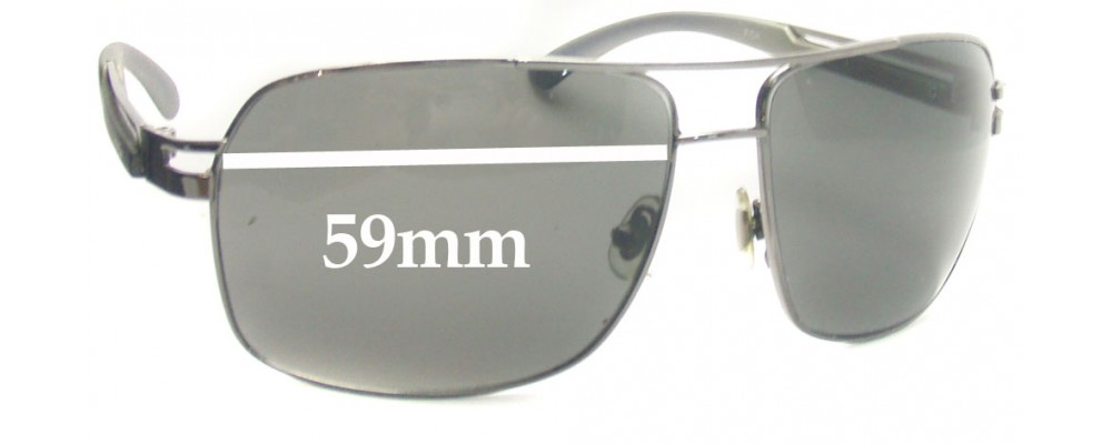 Sunglass Fix Sunglass Replacement Lenses for Fish Barb - 59mm Wide