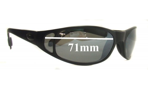 Sunglass Fix Sunglass Replacement Lenses for Flying Fisherman Rio - 71mm Wide CUSTOM INSTALL ONLY