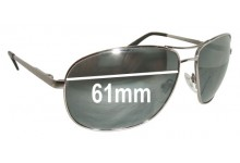 Sunglass Fix Sunglass Replacement Lenses for Fossil Sahara - 61mm Wide