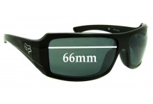 Sunglass Fix Sunglass Replacement Lenses for Fox The Median - 66mm Wide