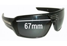 Sunglass Fix Sunglass Replacement Lenses for Fox The Study - 67mm Wide