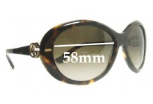 Sunglass Fix Sunglass Replacement Lenses for Gucci GG2988/S - 58mm Wide
