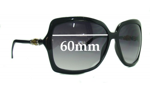Sunglass Fix Sunglass Replacement Lenses for Gucci Bamboo - 60mm wide