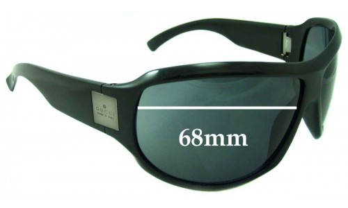 Sunglass Fix Sunglass Replacement Lenses for Gucci unknown - 68mm wide