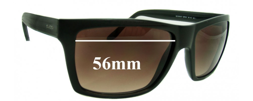 Sunglass Fix Sunglass Replacement Lenses for Gucci GG1013/S - 56mm Wide