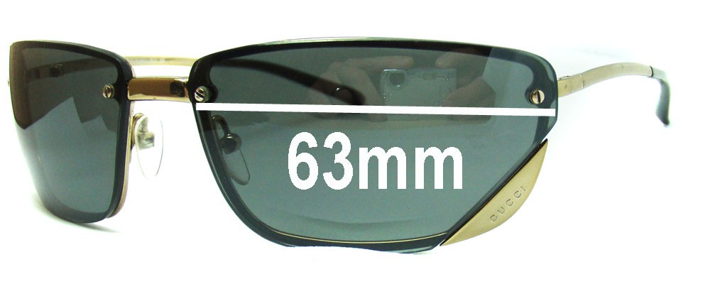Sunglass Fix Replacement Lenses for Gucci GG1691 - 63mm Wide