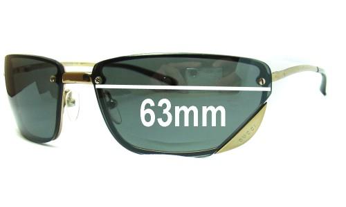 Sunglass Fix Sunglass Replacement Lenses for Gucci GG1691 - 63mm wide
