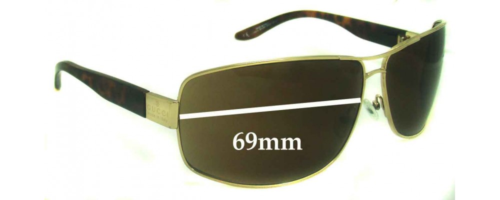 Sunglass Fix Sunglass Replacement Lenses for Gucci GG1894 - 69mm Wide