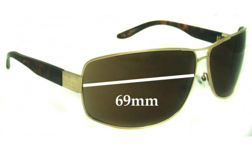 Sunglass Fix Sunglass Replacement Lenses for Gucci GG1894 - 69mm Wide