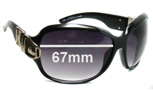 Sunglass Fix Sunglass Replacement Lenses for Gucci GG2591 - 67mm Wide