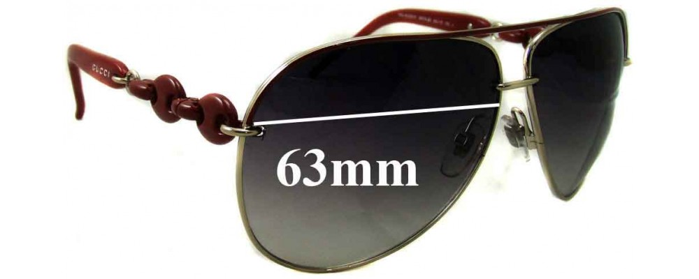 Sunglass Fix Sunglass Replacement Lenses for Gucci GG4225/S - 63mm Wide