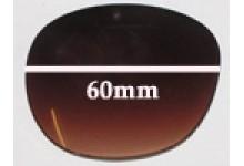 Sunglass Fix Sunglass Replacement Lenses for Guess GU7002 - 60mm Wide