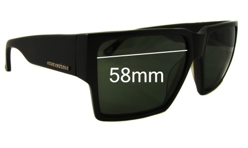Sunglass Fix Sunglass Replacement Lenses for Colabs Talls and Lows HAL  - 58mm Wide