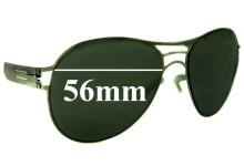 Sunglass Fix Sunglass Replacement Lenses for IC! Berlin Roger - 56mm Wide