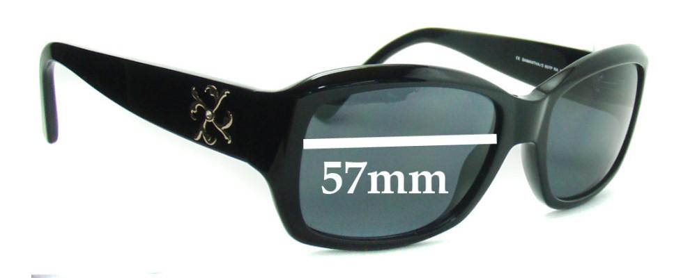 Sunglass Fix Sunglass Replacement Lenses for JLO by Jennifer Lopez Samantha - 57mm Wide