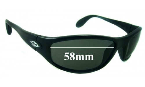 Sunglass Fix Sunglass Replacement Lenses for Killer Loop KL4105 The Groove - 58mm Wide