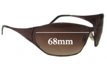 Sunglass Fix Sunglass Replacement Lenses for Lacoste 68mm Wide - CAN NOT FIT