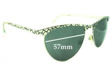 Sunglass Fix Sunglass Replacement Lenses for Le Specs Crater Cats - 57mm Wide