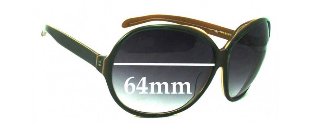 Sunglass Fix Sunglass Replacement Lenses for LouenHide Unknown Model - 64mm Wide