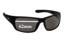 Sunglass Fix Sunglass Replacement Lenses for Mambo Adult 1005110 - 62mm Wide