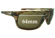 Sunglass Fix Sunglass Replacement Lenses for Maui Jim MJ237 Island Time - 64mm Wide