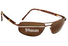 Sunglass Fix Sunglass Replacement Lenses for Maui Jim MJ162 Kahuna - 59mm Wide