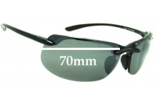 Sunglass Fix Sunglass Replacement Lenses for Maui Jim MJ412 Banyans - 70mm Wide