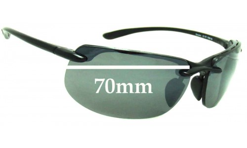 Sunglass Fix Sunglass Replacement Lenses for Maui Jim MJ412 Banyans - 70mm Wide *(Newer Version - Uses Gaskets for Bigger Holes)